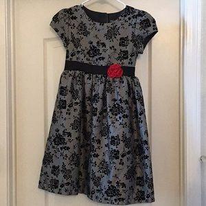 George gingham floral dress